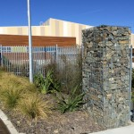 Impressive Gabion Pillars line the entry - a good job done well by my team of stone craftsmen.